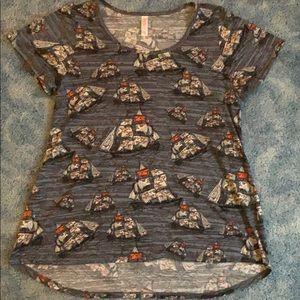 LulaRoe Sailboat Short Sleeve Shirt